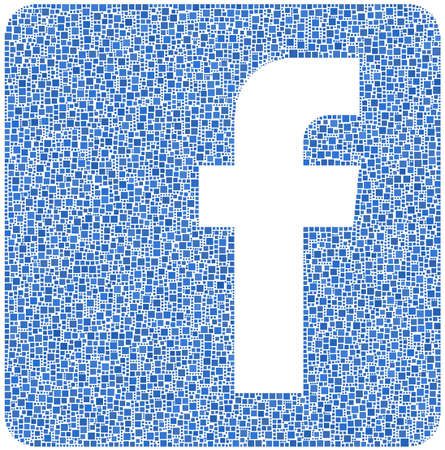 Facebook! Social Network logo in a mosaic of squares  Stock Photo - 14466716