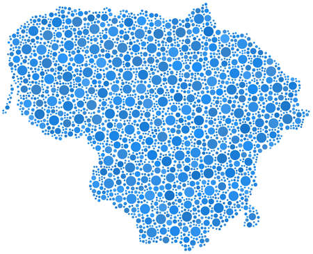 Map of Lithuania - Europe - in a mosaic of blue bubbles Stock Vector - 15276448