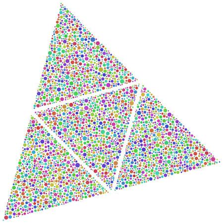 tetrahedron: Decorative bubbles into a tetrahedron Illustration