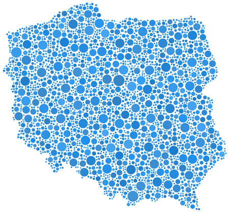 warsaw: Decorative map of Poland - Europe