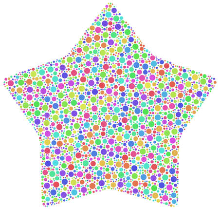 smoothed: Decorative mosaic of a smoothed star in a mosaic of harlequin circles