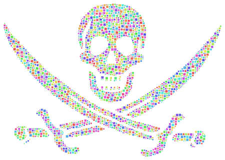 filibuster: Pirate flag revisited in a mosaic of harlequin square