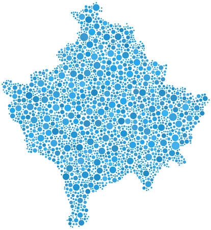 provence: Isolated map of the Cote dAzur - France - in a mosaic of blue bubbles