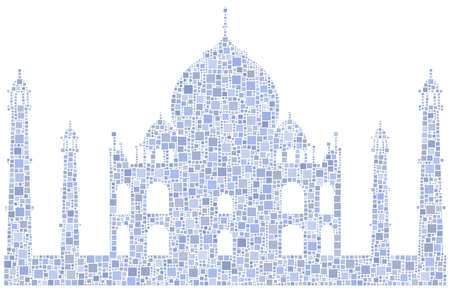 mausoleum: Decorative mosaic of the Taj Mahal mausoleum - India -