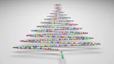 Happy Christmas! | 3D mosaic of small bricks Stock Photo