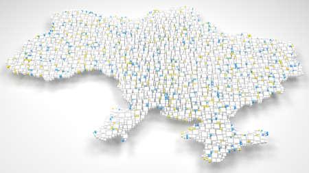 3D Map of Ukraine - Europe Reklamní fotografie