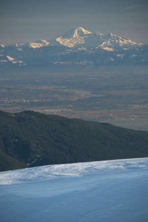 fraser: Fraser Valley from Mount Seymour Stock Photo