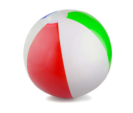 Beach Ball on a white backgraund Stok Fotoğraf