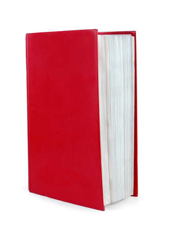 Red book in a white background
