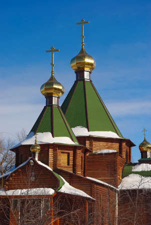Wooden church of Three Saints  Samara  Russia