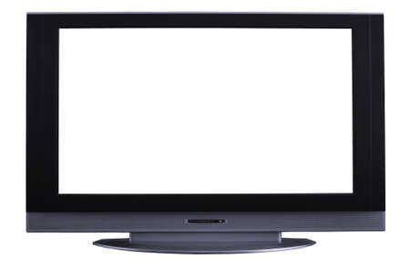 Lcd television monitor on a white background Stock Photo