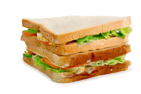 Chicken sandwich on a white background Stock Photo