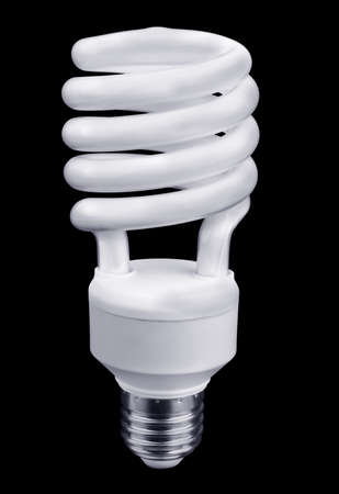 Energy saving light bulb on a black background