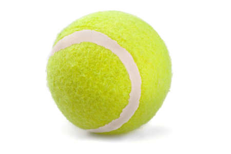 Tennis ball on a white background  photo