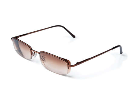 Tinted vision glasses on a white background