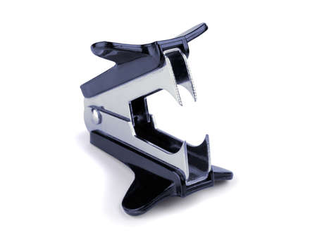 Staple remover on a white background