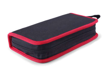 Black red tool case on a white background Stock Photo - 17998154