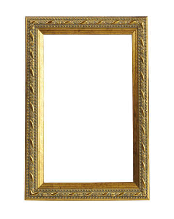 Old frame on a white background Stock Photo