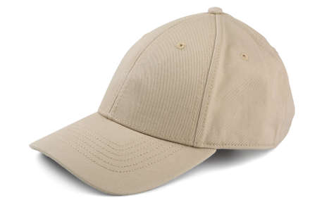 Cream cap on a white background