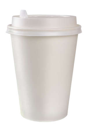 polystyrene: Disposable coffee cup Stock Photo