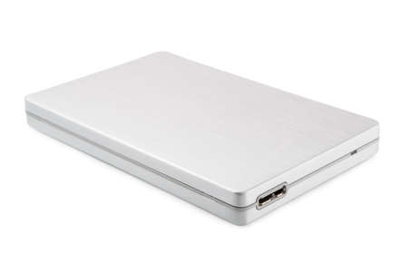 USB hard disk on a white background photo