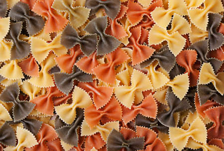 Multicolor farfalle like background texture