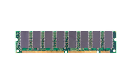 Computer memory  RAM  on a white background Stock Photo