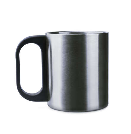Thermal mug on a white background photo