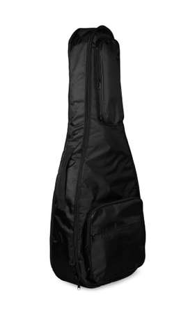 guitar case: Black guitar case on a white background Stock Photo