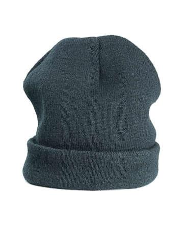 Woolen green hat on a white background  photo