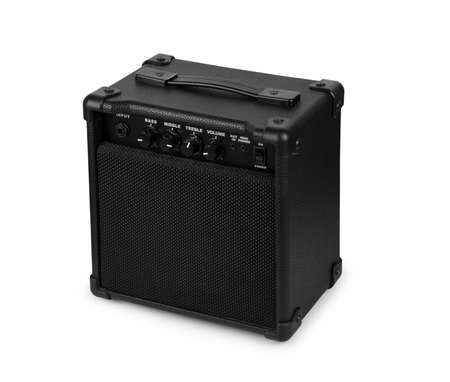 Bass amplifier on a white background