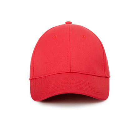 ballplayer: Red cap on a white background Stock Photo