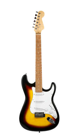 Electric guitar on a white background Stock Photo