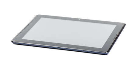 Tablet computer on a white background photo