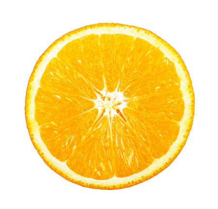 Slice of fresh orange on white background Stok Fotoğraf