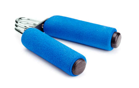 hand gripper: Blue hand gripper on a white background