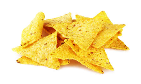 Mexican nachos isolated on white background