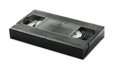 videocassette: VHS de v�deo cassette de cinta aisladas sobre fondo blanco