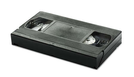 videocassette: VHS video tape cassette isolated on white background Stock Photo