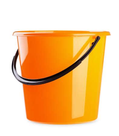Orange bucket isolated on a white background