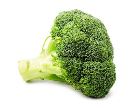 Fresh green broccoli isolated on white background closeup Stock Photo