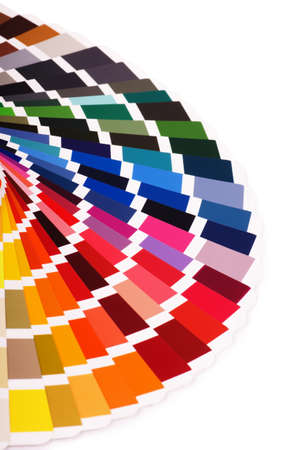 Color palette, guide of paint samples catalog, color chart isolated on a white background