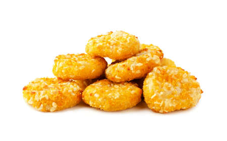 Cheese nuggets fast food isolated on a white background Stock Photo