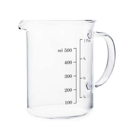 Empty beaker isolated on a white background