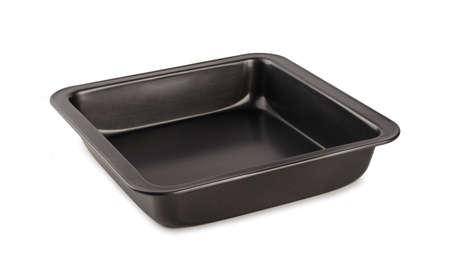 Teglia da forno vuota isolata su sfondo bianco
