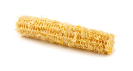 Fully eaten corn on the cob isolated on white background Reklamní fotografie