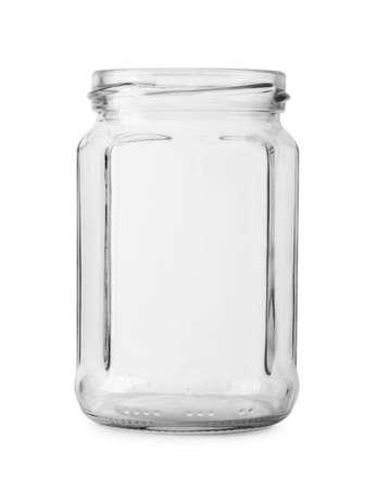 Empty glass jar isolated on white background Reklamní fotografie