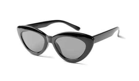 Stylish women's sunglasses isolated on the white background