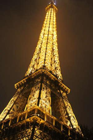 Eiffel tower at paris night Editorial