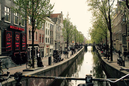 View of a canal in Amsterdam, Netherland